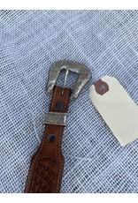 """Sunset Trails sterling silver buckle on VOGT leather belt 28"""""""