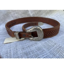 Sunset Trails sterling silver buckle on VOGT leather belt 28""