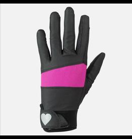 Horze Kids Gloves with Heart Glitter Print