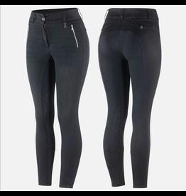 Horze Nicole Women's Denim Breeches Silicone Knee Patch