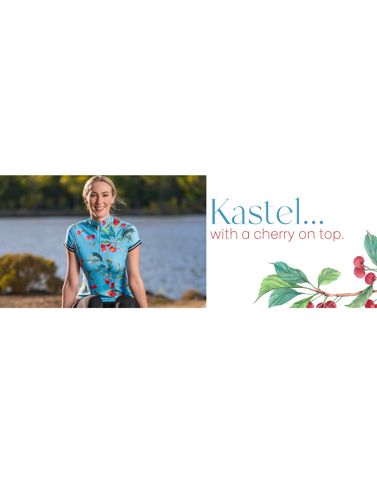 Kastel Sun Shirt Cap Sleeve 1/4 Zip Cherry