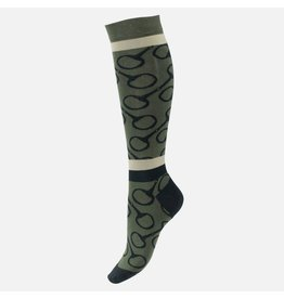 Horze Socks Jacquard Knit Riding BKGR/TFBE