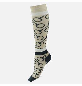 Horze Socks Jacquard Knit Riding TFBE/MSBE