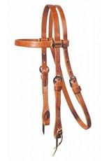 """Professionals Choice Headstall Laced Browband Harness Leather 5/8"""" Cob/Arab"""