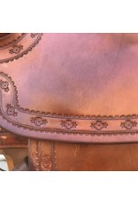 """McClintock Square Skirt Western Saddle 15.5"""" Seat Semi Quarter Horse Bars with a 6.5 gullet"""