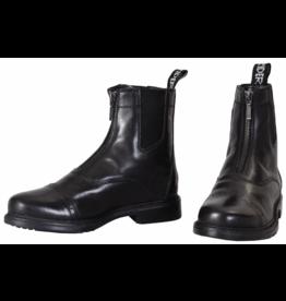 Tuffrider Men's Baroque Leather Zip Paddock Boots Black