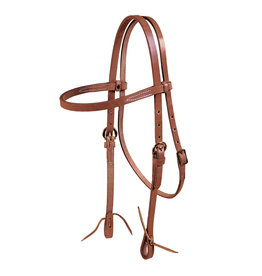 Headstall #466 Browband Single Ply Harness leather