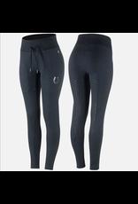 Horze Elaine Womens Jogger High Waist Tights - Navy Dark Blue
