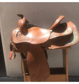 "Circle Y Show saddle 15.5"" FQHB w/bridle & breastplate"