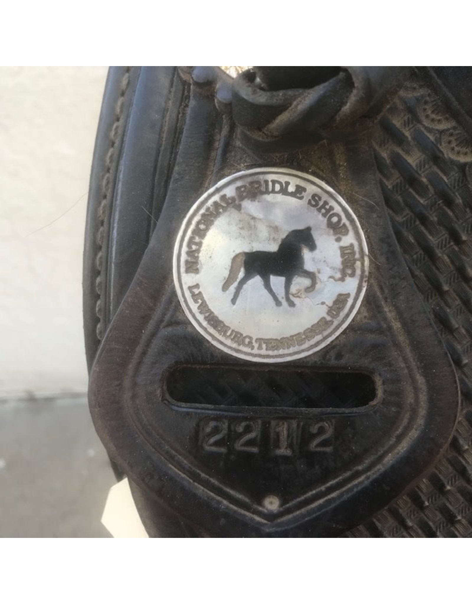 "National Bridle Tennesean Supreme Trail Saddle Gaited Wide Tree 16"""
