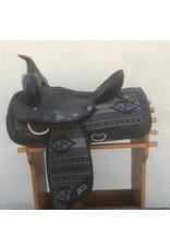 "Abetta Synthetic Western Purple/Black 15"" Full Quarter Horse Bars"