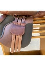 "Bates Caprilli XCH 17"" Seat Medium Gullet Installed"