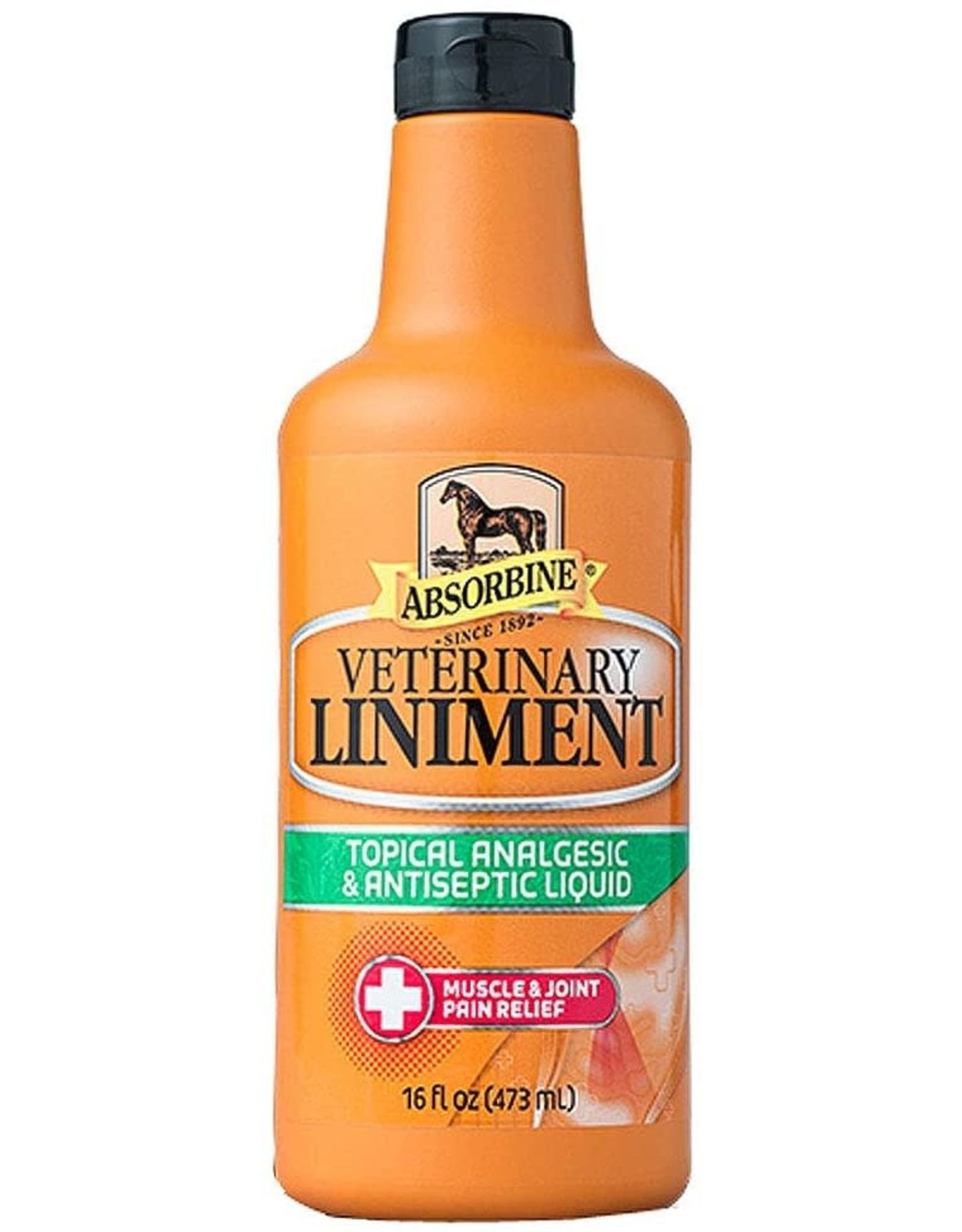 Absorbine Veterinary Topical Analgesic & Antiseptic Horse Liniment 16 oz