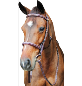 Pro Fancy Raised Comfort Padded Bridle With Reins