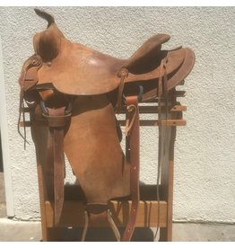 "Western Roughout Saddle 14.5"" Full Quarter Horse Bars"