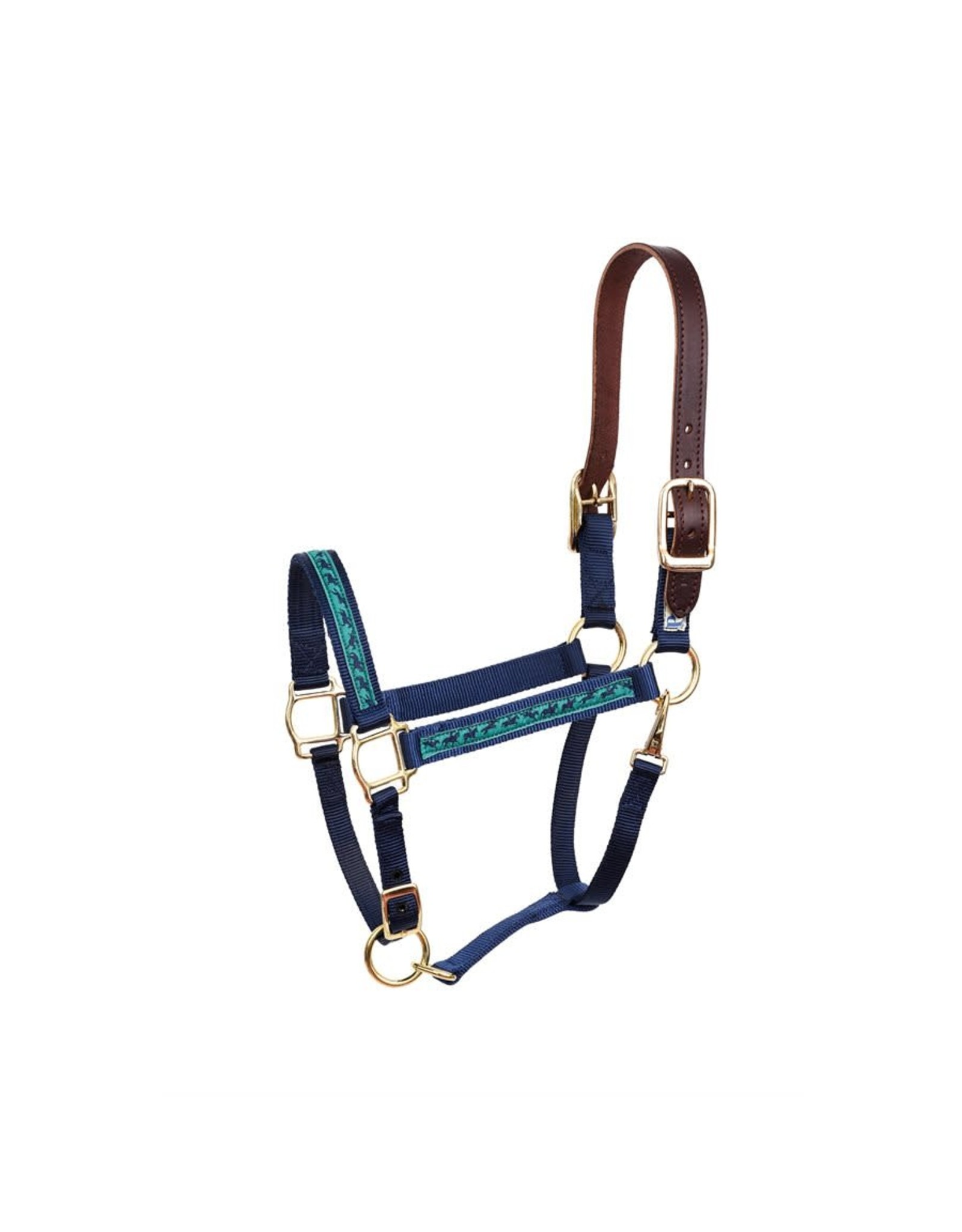 Perri's Halter Safety Navy Jumping Horses