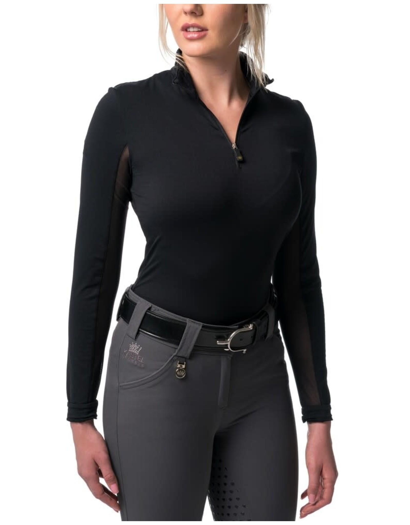 Kastel Sun Shirt Charlotte Long Sleeve 1/4 Zip Black with Black Trim