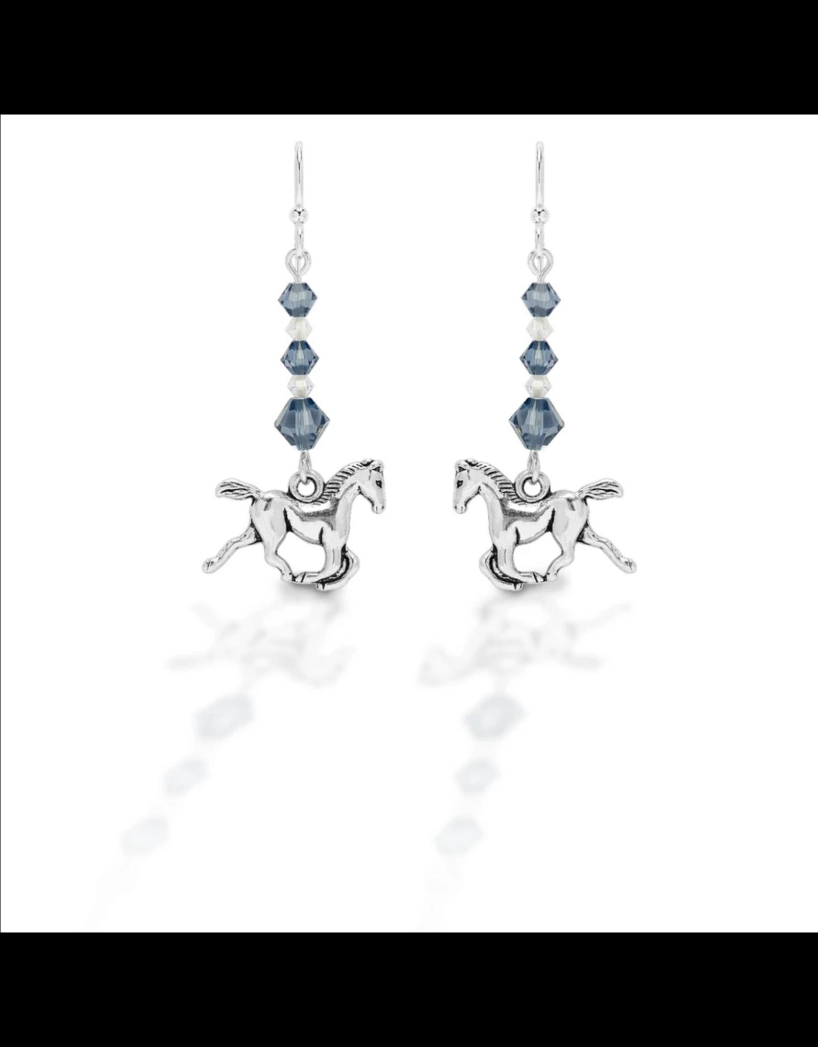 Kasaro Designs Earrings Beaded Horse
