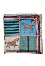 Silky Scarf Horses in Blankets Multi