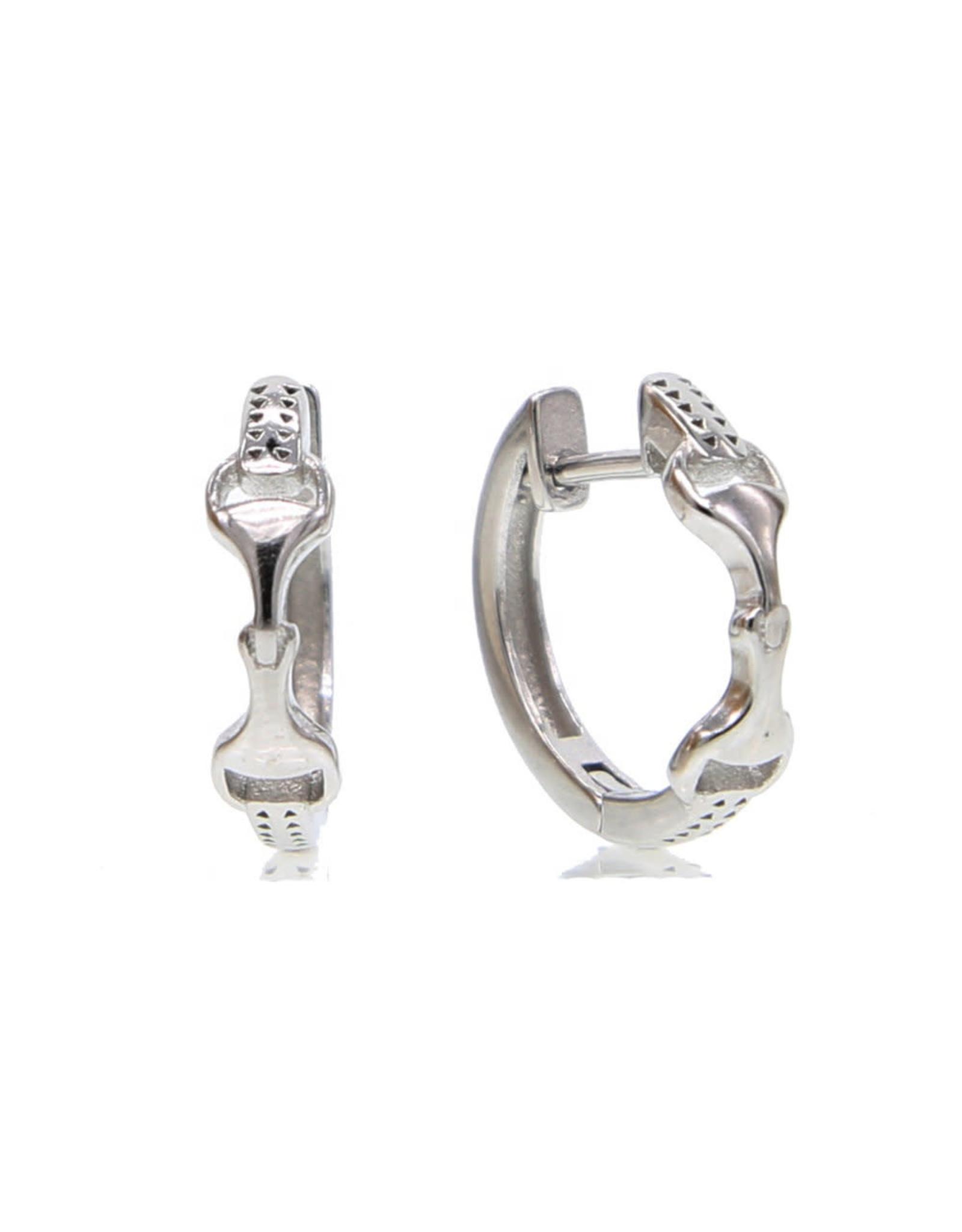 Earrings  Sterling Silver Snaffle Bit Hoop