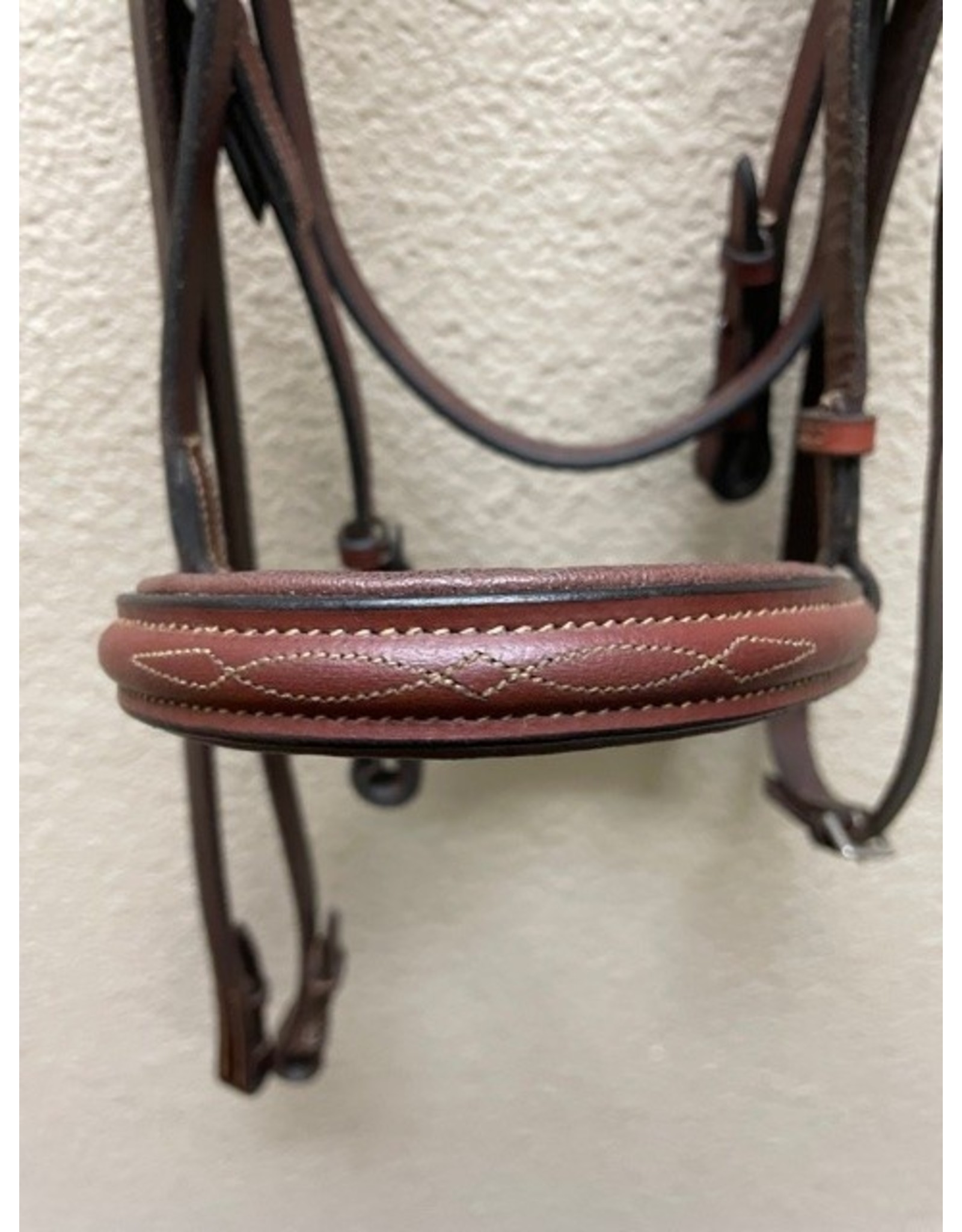 Chestnut Padded Famcuy Stitched Cob bridle