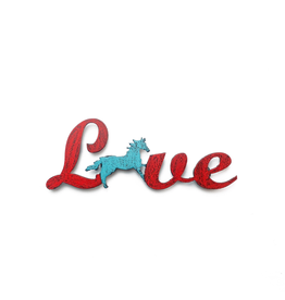 Love Horse Magnet Western Rodeo Recycled