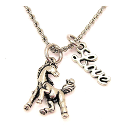 """Necklace Posing Horse 20"""" Rope With Love Accent Equestrian"""