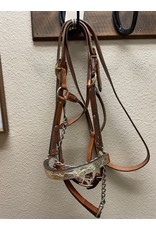 Silver plate show halter and lead