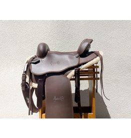 "Mesace New Mesace Synthetic Endurance Saddle 16"" Full Quarter Horse Bars"