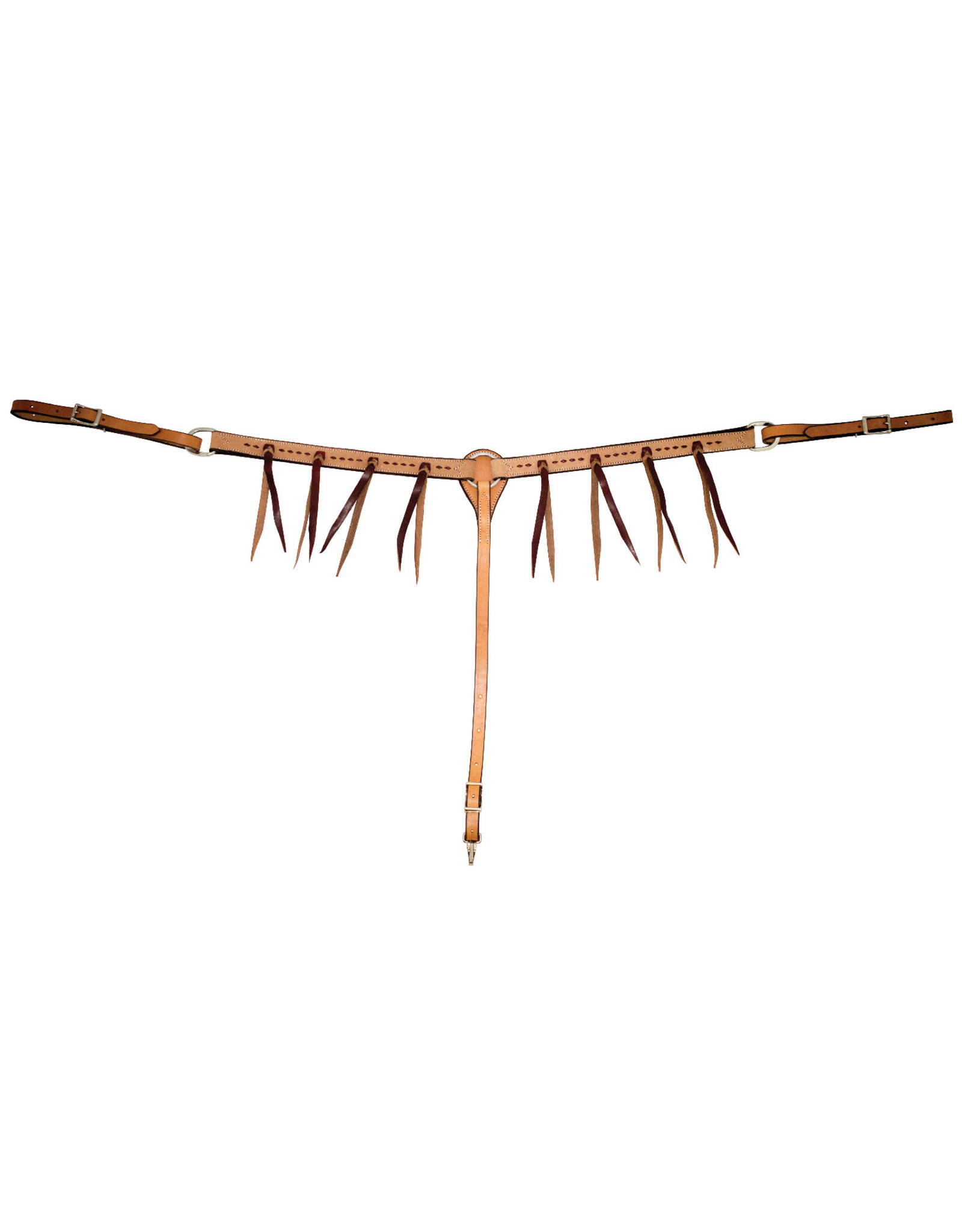 Partrade Breast Collar Golden RO Buckstitch Latigo Strings
