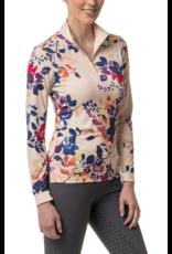 Kastel Long Sleeve Watercolor All Over Print Rose Gold Zipper