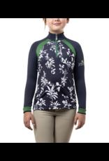 Kastel Kids Long Sleeve Long Sleeve Navy Floral with Green
