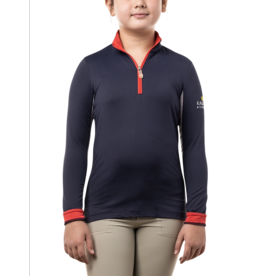 Kastel Kids Long Sleeve Navy, Red and White