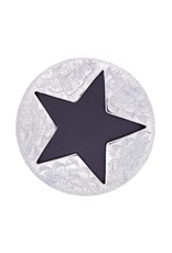 "Metalab Concho Antique Star Cut Out 1-1/2"" pair"