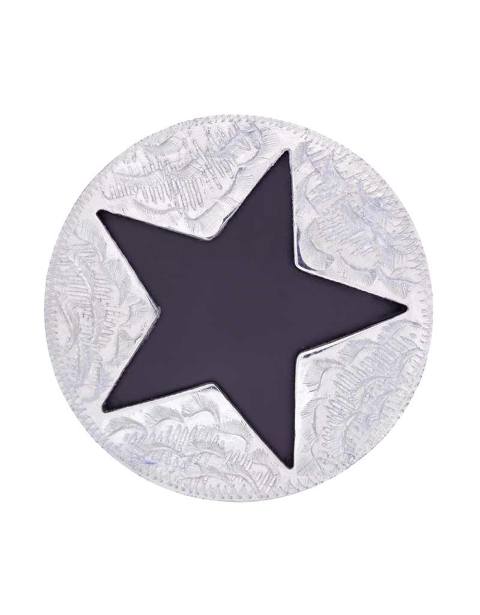 "Metalab Concho Antique Star Cut Out 1"" Pair"