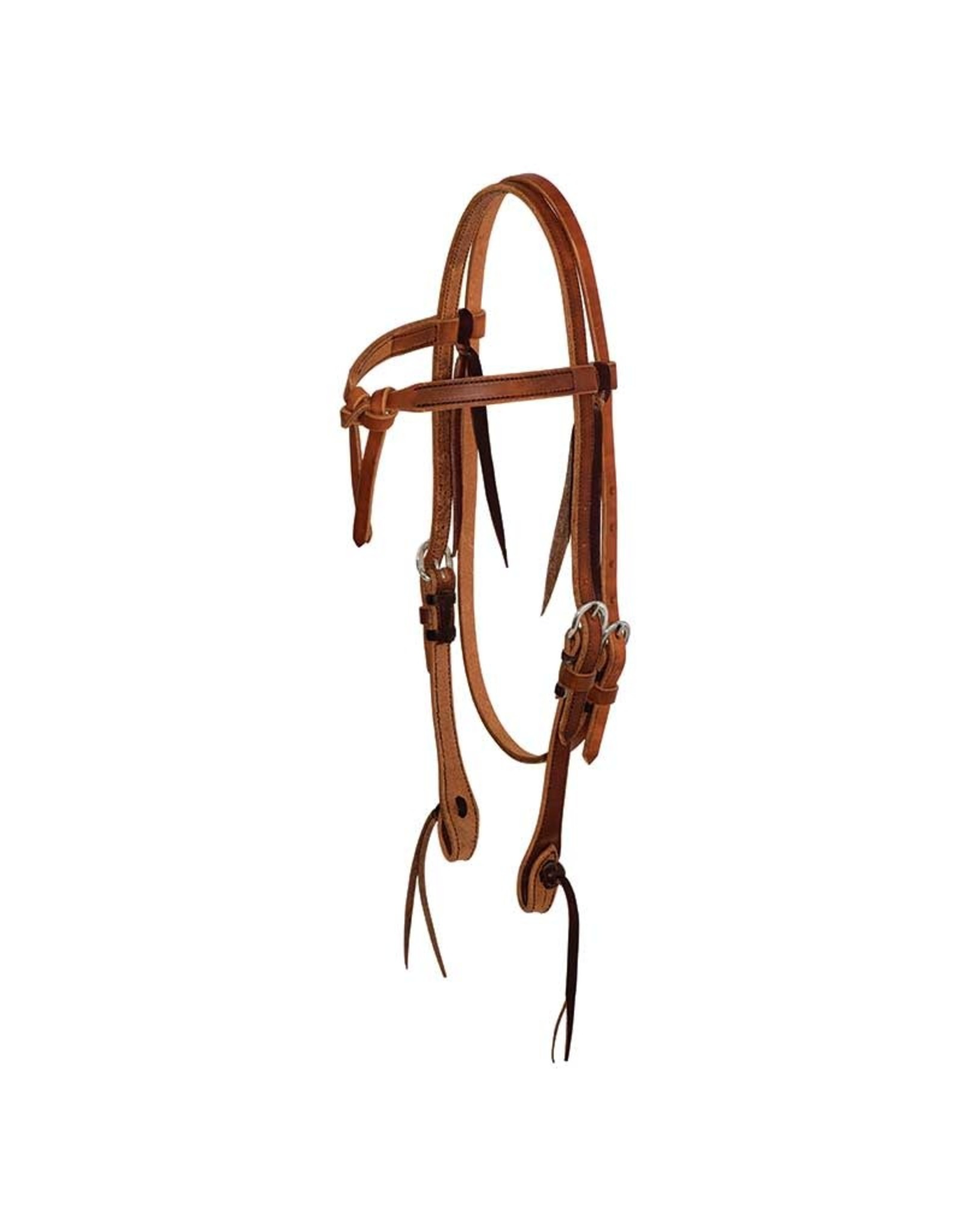 Cowboy Tack Headstall Browband 5/8″ Leather Tie Front