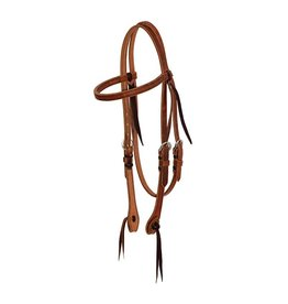 Cowboy Tack 5/8″ Leather Browband Headstall