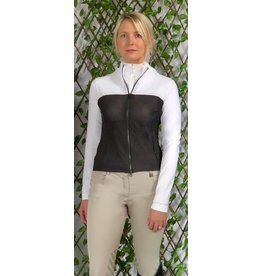 Color Block Air Flow Mesh Jacket Sm white/Black