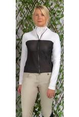 70degrees.life Color Block Air Flow Mesh Jacket XS White/Black