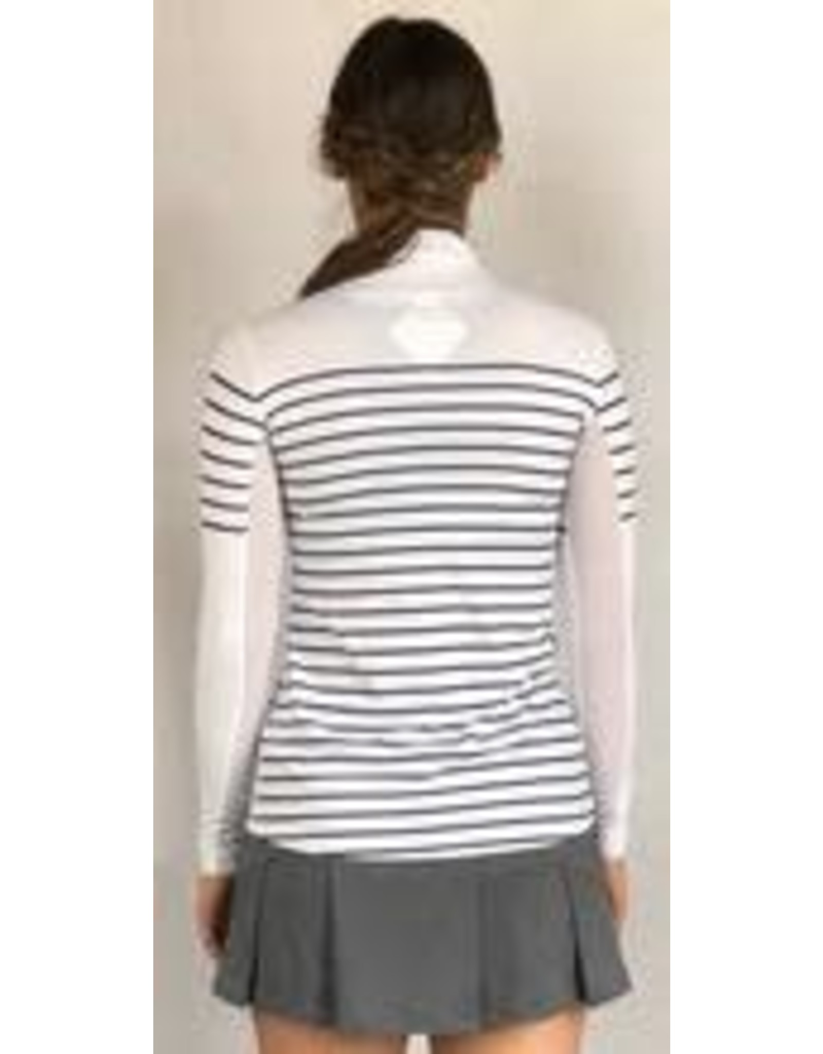 70degrees.life French Stripe Performance Sun Shirt in Navy XS