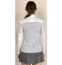 70degrees.life French Stripe Performance Sun Shirt in Navy sz L