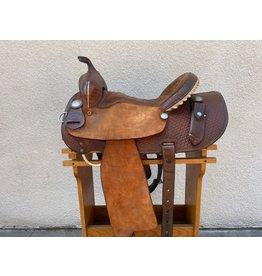 "Ed & Martha Barrel saddle 15"" SQHB"