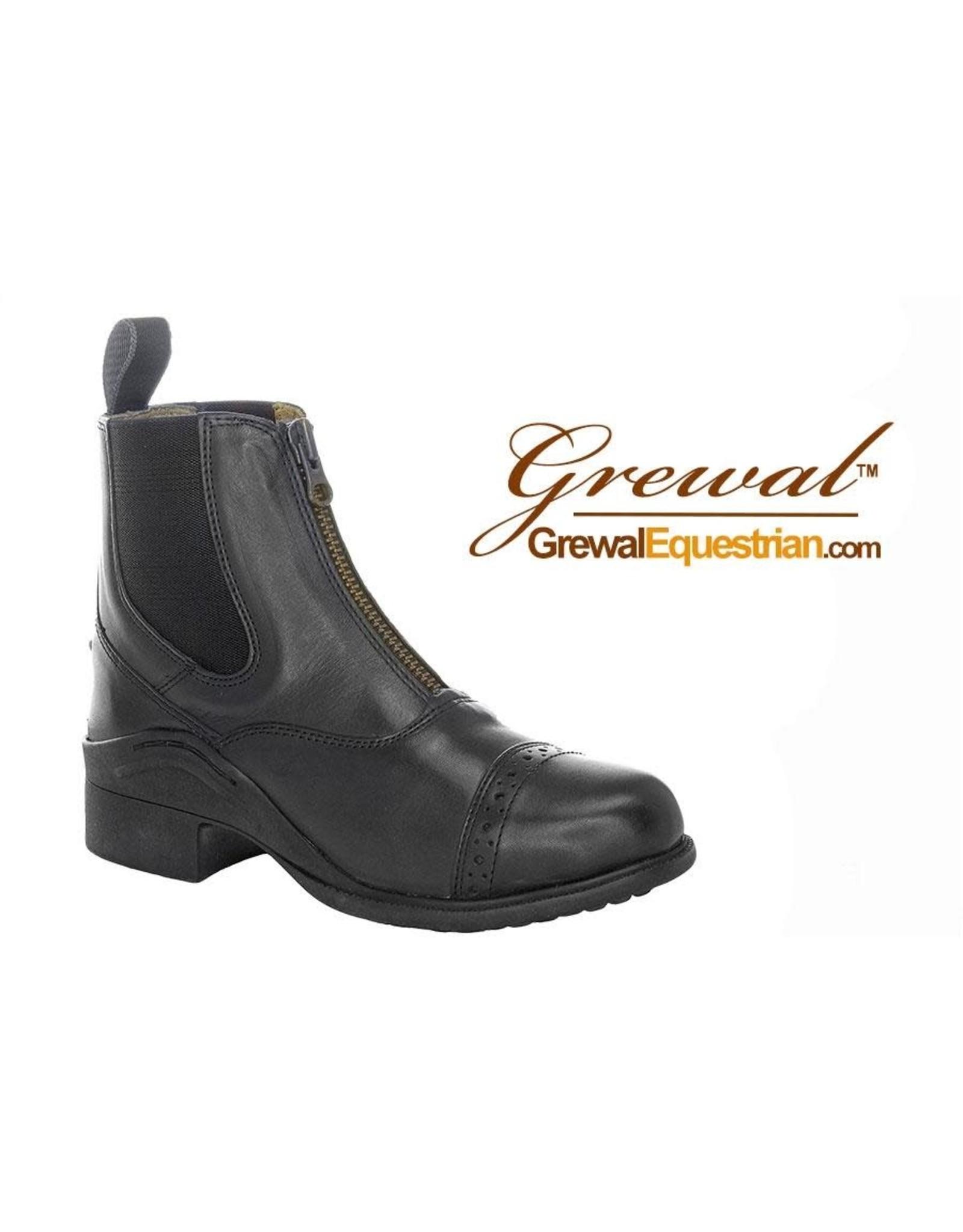 Grewal Paddock Children's Zip-Up Leather