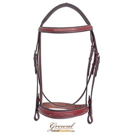 Grewal Bridle St. Andrews Cherry Fully Laced Reins