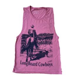 Long Board Cowboys Women's Wave Check Muscle Tee