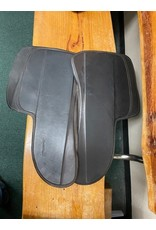SaddleRight brown leather half pad