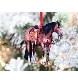 Bay Western Ranch Quarter Horse Ornament