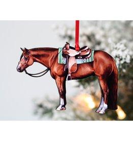 Chestnut Western Quarter Horse Ornament