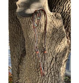 "Alamo Saddlery Flat One Ear 5/8"" Headstall Toast Leather w/ Stones & Spots"