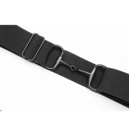 "Ellany Belt 1.5"" Black Snaffle Elastic Black"
